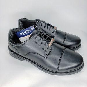 NIB Deer Stag Men's Black Memory Foam Shoes - 10M